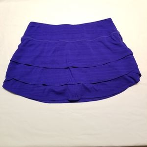 Athleta purple athletic ruffle layer skirt